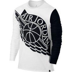 T-shirty męskie: Nike Koszulka męska Jordan Stretched Wings Long Sleeve czarno-biała r. S (834482 100)
