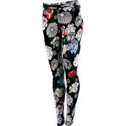 Legginsy we wzory: legginsy sportowe damskie ADIDAS LINEAR LEGGINGS / AY7948