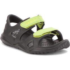 Sandały CROCS - Swiftwater River Sandal K 204988 Black/Volt Green. Czarne sandały męskie skórzane marki Crocs. Za 109,00 zł.