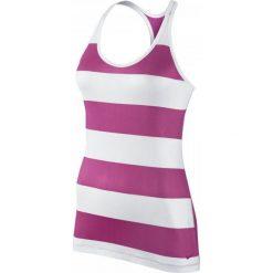 Nike Koszulka Get Fit Rugby Stripe Tank biała r. XS (648557-612). Białe topy sportowe damskie Nike, xs. Za 54,49 zł.