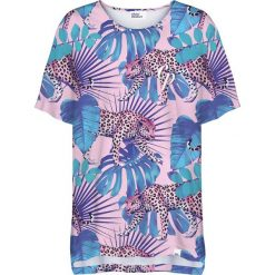 Colour Pleasure Koszulka damska CP-033 274 różowo-niebieska r. uniwersalny. Czerwone bluzki damskie marki Colour pleasure, uniwersalny. Za 76,57 zł.