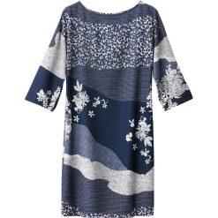 Sukienki: Sukienka z kwiatowym nadrukiem, guziki na rękawach