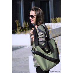 Torebki klasyczne damskie: Duża torba Miss Szoperka 2 – zieleń khaki