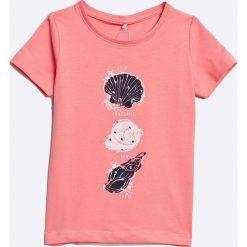 Name it - Top dziecięcy 92-128 cm. Różowe bluzki dziewczęce marki Mayoral, z bawełny, z okrągłym kołnierzem. W wyprzedaży za 29,90 zł.