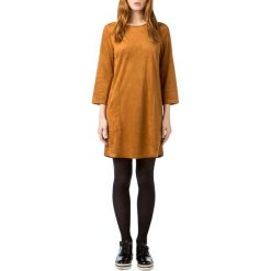 Długie sukienki: Prosta, gładka sukienka, krótka, z długim rękawem
