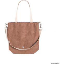 Torba Simple brown. Brązowe torebki klasyczne damskie marki Pakamera, w paski. Za 149,00 zł.
