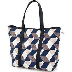 Torba plażowa ze wzorem - (S)52 x (W)35 cm. Szare torebki klasyczne damskie Pijama, z materiału. W wyprzedaży za 179,95 zł.