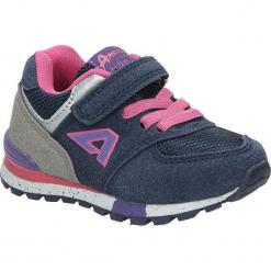Granatowe buty sportowe na rzep American K15110G-1. Szare buciki niemowlęce American. Za 69,99 zł.