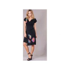 Sukienki krótkie Desigual  POALEA. Czarne sukienki hiszpanki Desigual, s, z krótkim rękawem, mini. Za 244,30 zł.