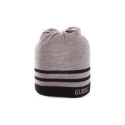 Czapki Guess  AM7787WOL01. Szare czapki zimowe męskie Guess, z aplikacjami. Za 161,99 zł.