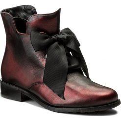 Botki EKSBUT - 77-4538-F95-1G Bordo/Czarny. Czerwone buty zimowe damskie Eksbut, ze skóry, na obcasie. W wyprzedaży za 259,00 zł.