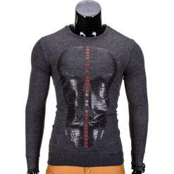 Bluzy męskie: BLUZA MĘSKA BEZ KAPTURA Z NADRUKIEM B674 – GRAFITOWA