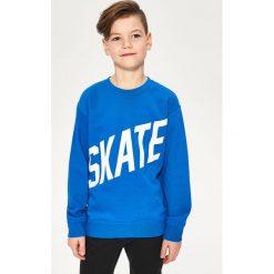 Bluzy chłopięce rozpinane: Bluza z napisem skate - Niebieski