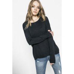 Answear - Sweter. Szare swetry klasyczne damskie ANSWEAR, l, z dzianiny, z okrągłym kołnierzem. W wyprzedaży za 59,90 zł.