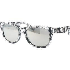 """Okulary przeciwsłoneczne damskie aviatory: Okulary przeciwsłoneczne """"0002/S GWB/SS"""" w kolorze biało-czarnym"""
