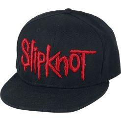 Slipknot Logo Czapka Snapback czarny. Czarne czapki z daszkiem damskie marki Slipknot, m, z nadrukiem, z kapturem. Za 121,90 zł.