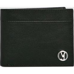 Versace Jeans - Portfel skórzany. Czarne portfele męskie Versace Jeans, z jeansu. W wyprzedaży za 299,90 zł.