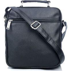 SOMER Black Solidna torba męska Bag Street. Czarne torby na ramię męskie marki Bag Street, w paski, ze skóry, na ramię. Za 69,90 zł.