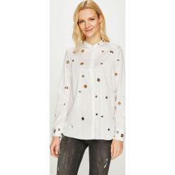 Guess Jeans - Koszula. Szare koszule jeansowe damskie marki Guess Jeans, l, z aplikacjami, casualowe, ze stójką, z długim rękawem. Za 459,90 zł.