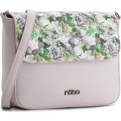 Torebka NOBO - NBAG-E2140-C014 Jasnofioletowy Z Kwiatowym Nadrukiem. Szare listonoszki damskie marki Nobo, z nadrukiem, ze skóry ekologicznej, z nadrukiem. W wyprzedaży za 119,00 zł.