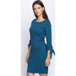 Sukienki: Ciemnoniebieska Sukienka When I Talk