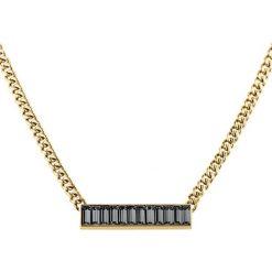 Naszyjniki damskie: Naszyjnik w kolorze złotym z kryształami Swarovski – (D)45 cm