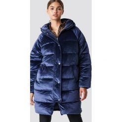 NA-KD Aksamitna kurtka - Blue,Navy. Szare kurtki damskie marki NA-KD, z bawełny, z podwyższonym stanem. Za 404,95 zł.