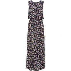 Sukienki: Długa sukienka w kwiaty bonprix ciemnoniebieski w kwiaty