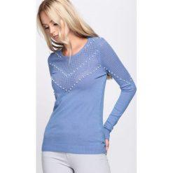 Swetry klasyczne damskie: Niebieski Sweter Wait For You