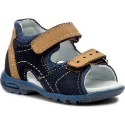 Sandały MIDO - 249 Granat/Żółty. Niebieskie sandały męskie skórzane marki Mido. W wyprzedaży za 99,00 zł.