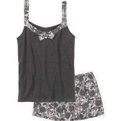 Piżama z krótkimi spodenkami bonprix szaro-jasnoróżowy z nadrukiem. Czerwone piżamy damskie marki DOMYOS, z elastanu. Za 34,99 zł.