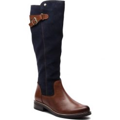 Oficerki CAPRICE - 9-25523-21 Cognac Multi 388. Brązowe buty zimowe damskie marki Caprice, z materiału, na obcasie. Za 549,90 zł.