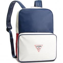 Plecak GUESS - HM6588 POL91 BLM. Białe plecaki męskie Guess, z aplikacjami, ze skóry ekologicznej, sportowe. Za 469,00 zł.