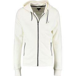 GANT CONTRAST SHIELD FULL ZIP Bluza rozpinana offwhite. Białe bluzy męskie rozpinane GANT, m, z bawełny. Za 589,00 zł.