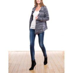 Sweter-narzutka. Szare golfy damskie marki La Redoute Collections, m, z bawełny, z kapturem. Za 335,96 zł.