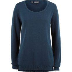 Swetry klasyczne damskie: Sweter z rozcięciami po bokach bonprix ciemnoniebieski