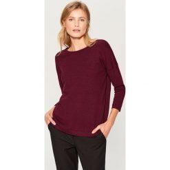 Sweter z dekoltem na plecach - Bordowy. Czerwone swetry klasyczne damskie marki Mohito, l, z dekoltem na plecach. Za 89,99 zł.