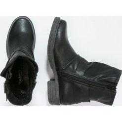 Dockers by Gerli Botki kowbojki i motocyklowe schwarz. Czarne buty zimowe damskie Dockers by Gerli, z materiału. W wyprzedaży za 142,35 zł.