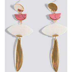 Kolczyki damskie: MANGO Kolczyki mieszane elementy – Gold