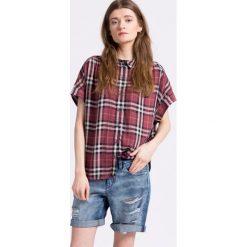 Only - Koszula. Czarne koszule damskie w kratkę marki ONLY, l, z materiału, z kapturem. W wyprzedaży za 69,90 zł.