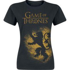 Gra o Tron House Lannister Koszulka damska czarny. Czarne t-shirty damskie Gra o Tron, xl, z nadrukiem, z okrągłym kołnierzem. Za 42,90 zł.