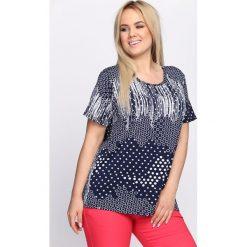 T-shirty damskie: Granatowy T-shirt Recombination