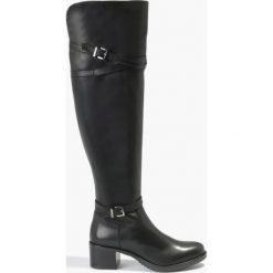 Buty zimowe damskie: Kozaki czarne Natea