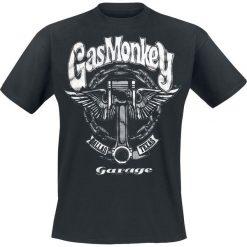 Gas Monkey Garage Big Piston T-Shirt czarny. Czarne t-shirty męskie z nadrukiem Gas Monkey Garage, xl, z okrągłym kołnierzem. Za 89,90 zł.