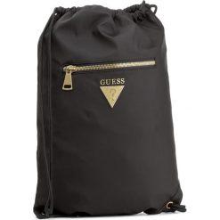 Plecak GUESS - Crown HM6123 NYL73 BLA. Czarne plecaki męskie marki Guess, z aplikacjami, sportowe. Za 289,00 zł.