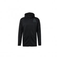 Bluzy Reebok Sport  Bluza z kapturem Training Spacer Full-Zip. Czarne bluzy męskie Reebok Sport, l, z kapturem. Za 279,00 zł.