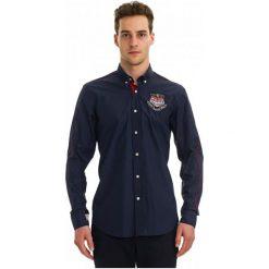 Galvanni Koszula Męska Pinetop Xl Ciemny Niebieski. Niebieskie koszule męskie GALVANNI, m, z bawełny. W wyprzedaży za 299,00 zł.