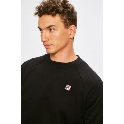 Fila - Bluza Pozzi Crew. Czarne bluzy męskie rozpinane marki TOMMY HILFIGER, l, z aplikacjami, z bawełny, bez kaptura. W wyprzedaży za 219,90 zł.