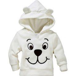 Bluzy niemowlęce: Bluza z polaru niemowlęca bonprix kremowobiały