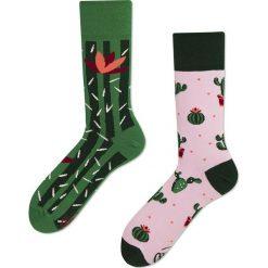 Many Mornings - Skarpety Summer Cactus. Białe skarpetki męskie marki B'TWIN, z elastanu. Za 24,90 zł.